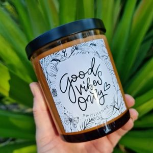 NEW Handpoured Amber Glass Jar Candle 300g